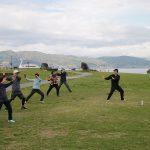 「諏訪湖で朝活。太極拳」2017.3回目を行いました