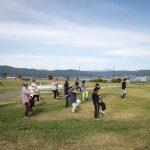 「諏訪湖で朝活。太極拳」2018年の10回目を行いました