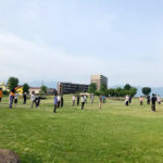 「諏訪湖で朝活。太極拳」2020年の5回目を行いました