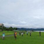 諏訪湖で朝活。太極拳」2020年8回目を行いました