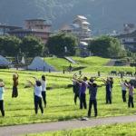 「諏訪湖で朝活。太極拳」2020年の9回目を行いました