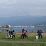 「諏訪湖で朝活。太極拳」2020年の13回目を行いました