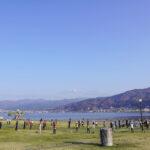 「諏訪湖で朝活。太極拳」2021年初回を行いました