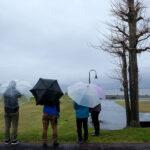 「諏訪湖で朝活。太極拳」2021年2回目は雨で中止でした