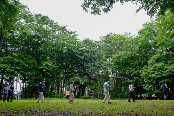 前島先生の「分水の森 朝活気功」 @ 富士見 分水の森