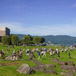 「諏訪湖で朝活。太極拳」2021年の8回目を行いました