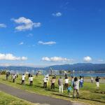 「諏訪湖で朝活。太極拳」2021年の9回目を行いました